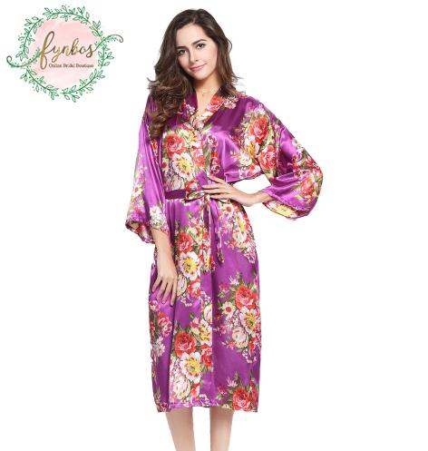 Purple Flowered Robe