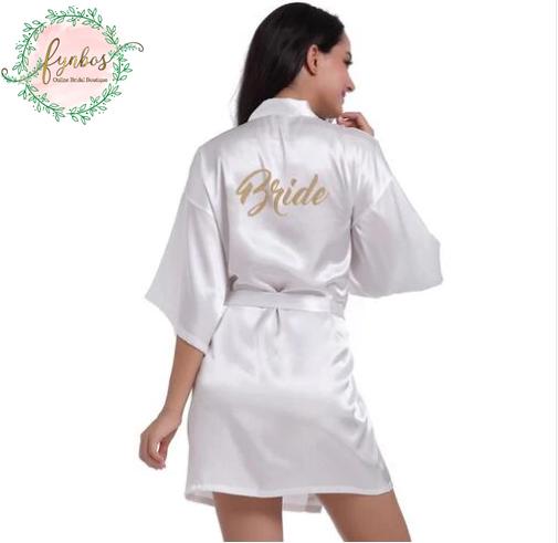 White Short Robe