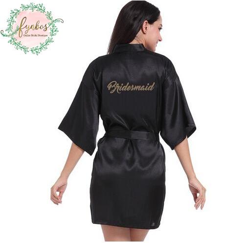 Black Bridesmaid Robe