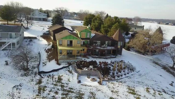 Lake Carroll Residence, Illinois addition & remodeling drone video