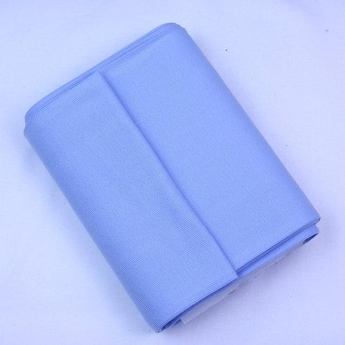 Cotton ribbing pale blue