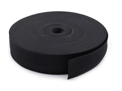 50mm woven elastic black