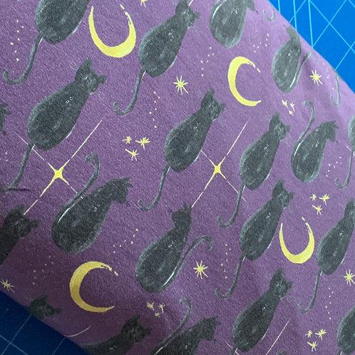 Mystic cats on purple