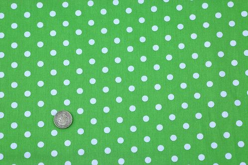 Polka dots cotton 8mm - lime