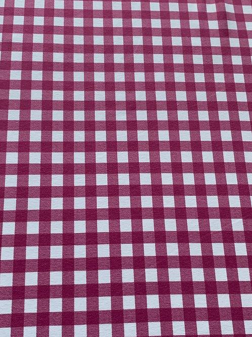 Pink gigham cotton jersey