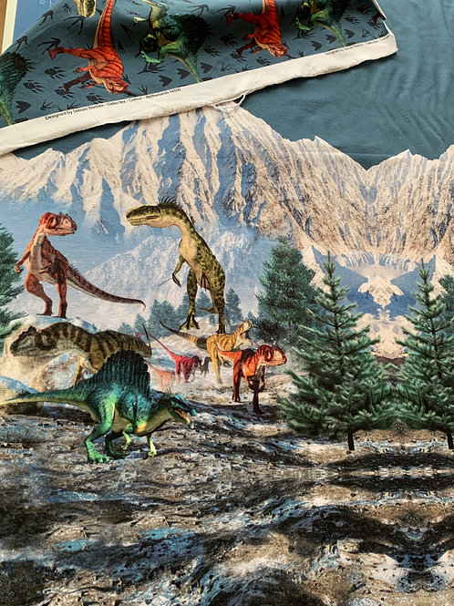 Dinos panel French Terry