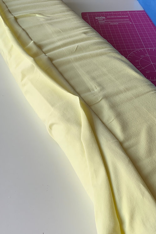 Solid jersey -pastel yellow