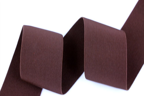 50mm woven elastic brown