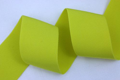 50mm woven elastic lemon