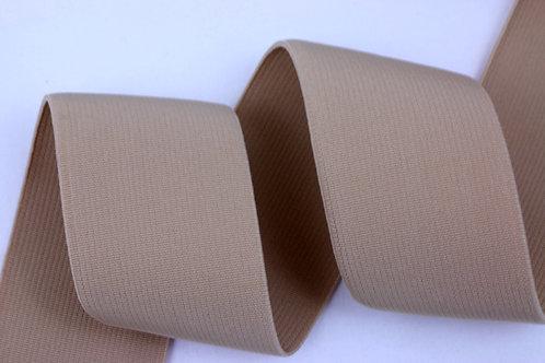 50mm woven elastic beige