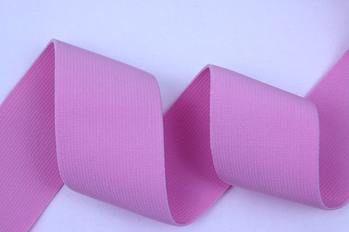 50mm woven elastic pale pink