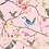 Thumbnail: Spring birds on pink cotton jersey