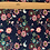 Thumbnail: Flower birds navy French Terry