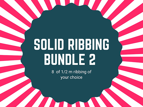Solid ribbing bundle 8 x 1/2m
