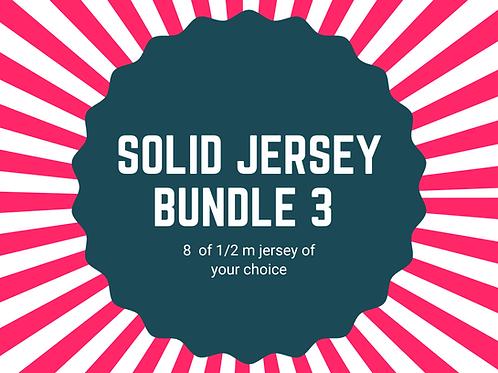 Solid jersey halves bundle 8x 1/2m