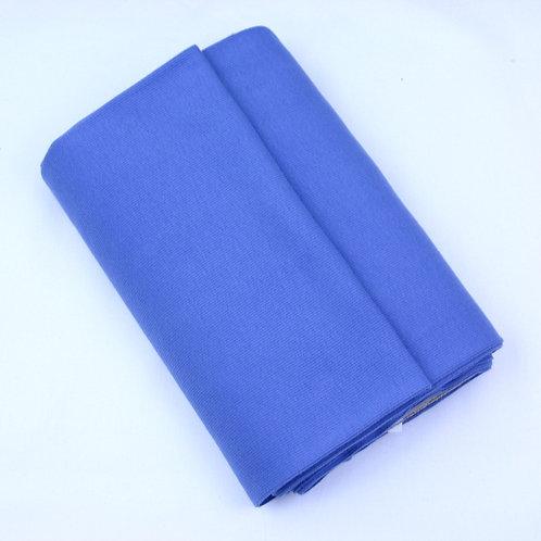 Cotton ribbing blue