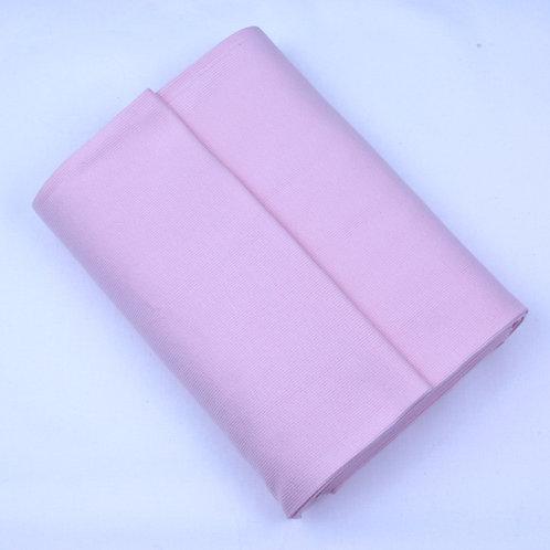 Cotton ribbing pale pink