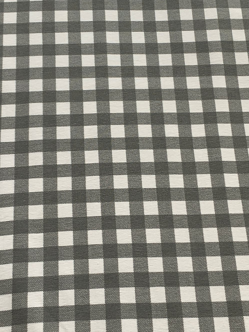 Grey gigham cotton jersey