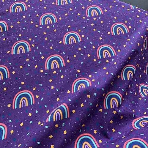 Autumn rainbows on purple FT