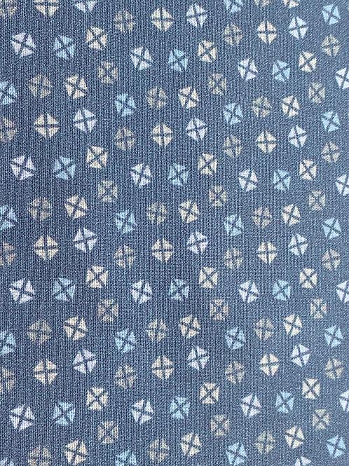 Blue alphabet background cotton