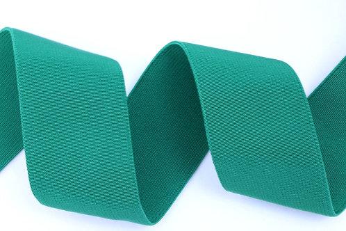 50mm woven elastic green