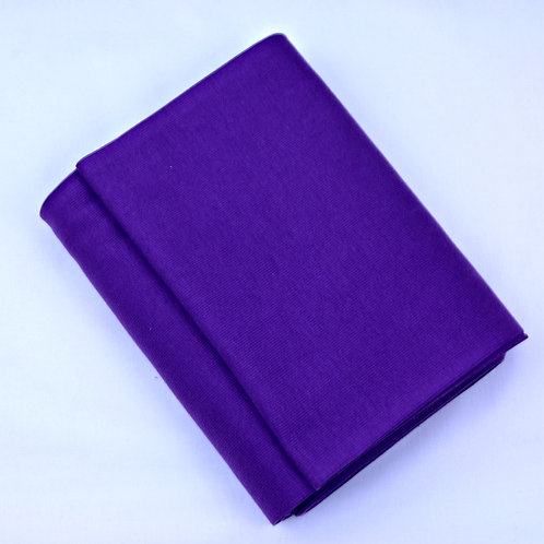 Cotton ribbing purple