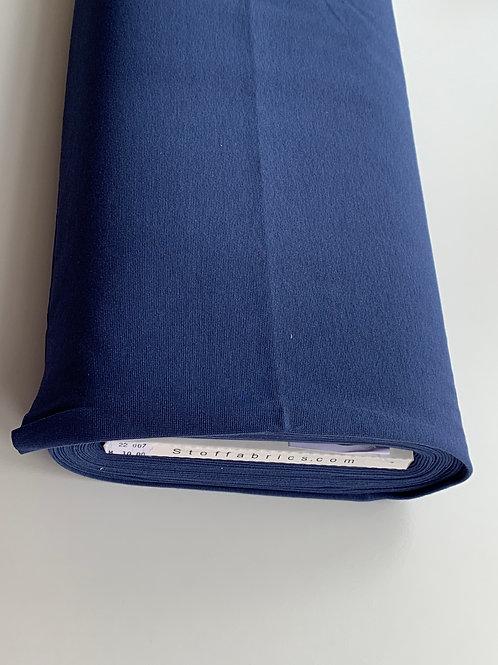 Rib cotton jersey blue