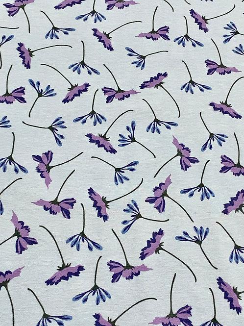 Cornflowers blue cotton jersey