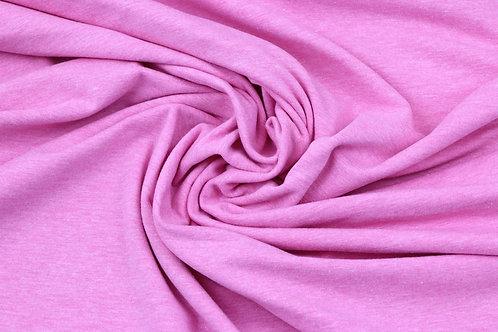 Pink melange solid jersey Stoff