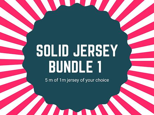 Solid jersey bundle 5x 1m