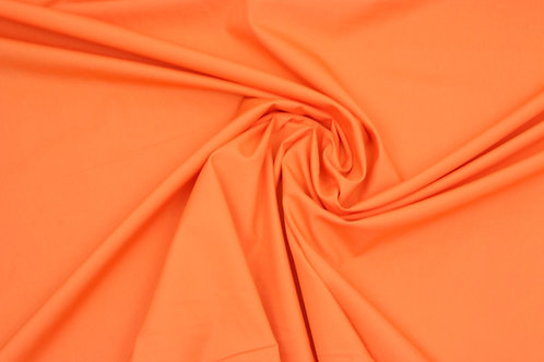 Poplin cotton fabric orange