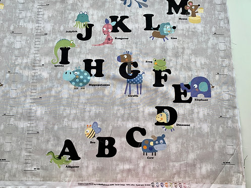Alphabet panel in cotton
