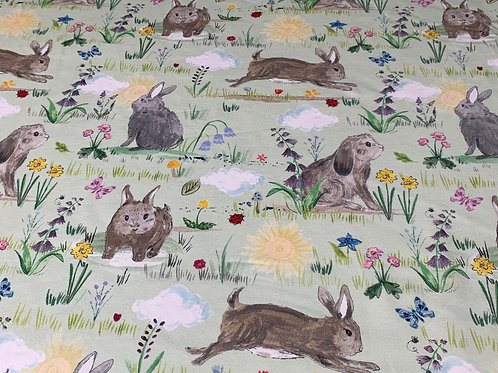 Spring bunnies green