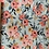 Thumbnail: Blue vintage flowers french terry