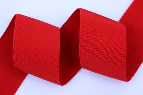 50mm woven elastic red