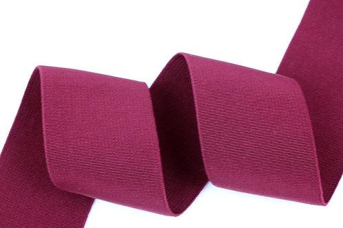50mm woven elastic burgundy