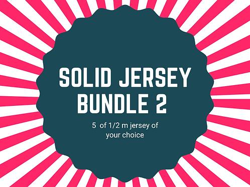 Solid jersey halves bundle 5x 1/2m