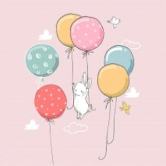 Jersey panel rabbit pale pink