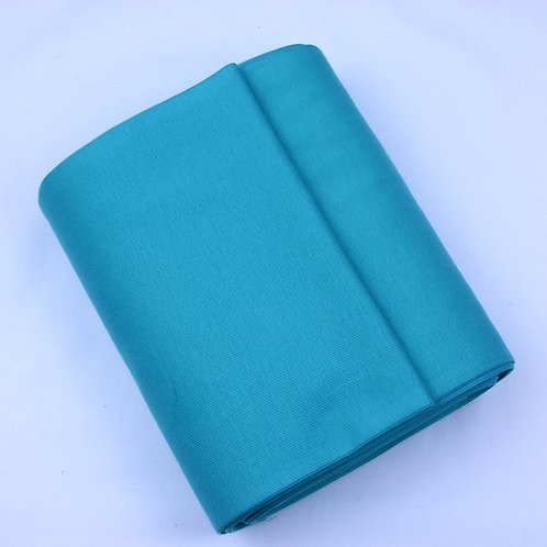 Cotton ribbing turquoise