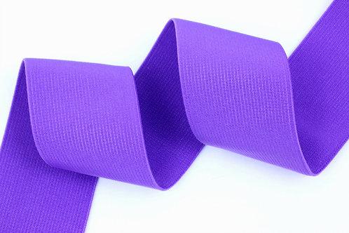 50mm woven elastic purple