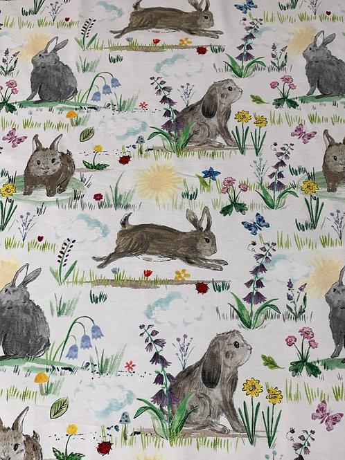 Spring bunnies white