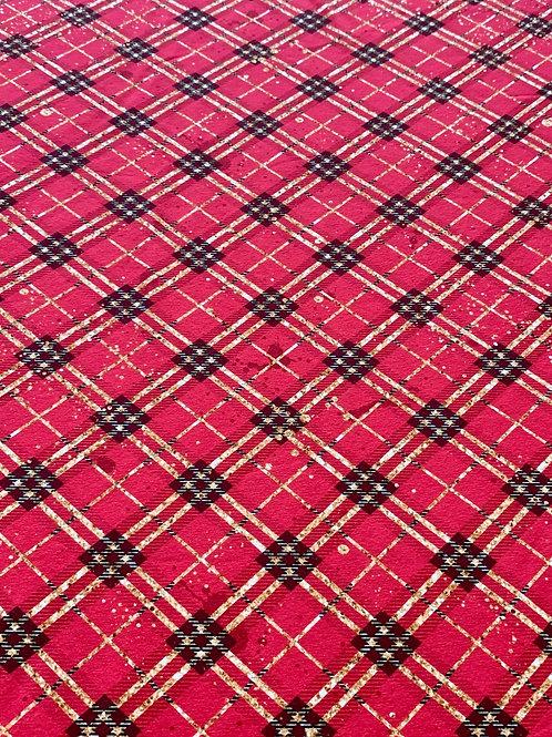Festive red tartan