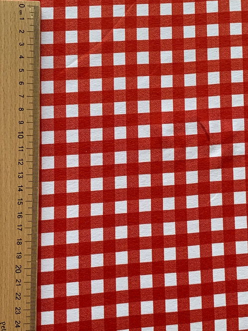Red gigham cotton jersey