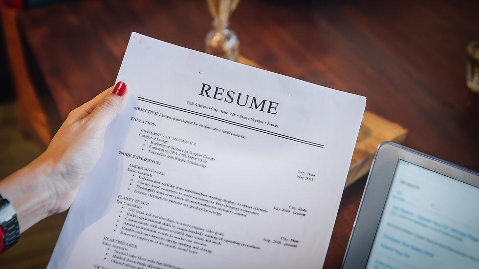 DIY Resume Plan