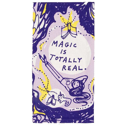 magic is totally real purple dish towel