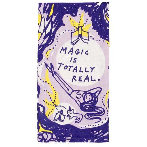 magic is totally real purple dish towel