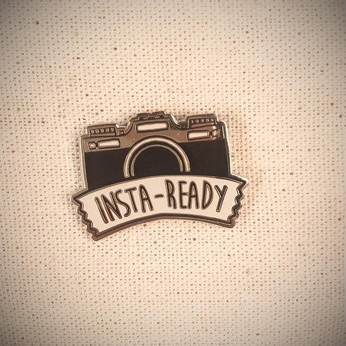 intagram insa-ready camera enamel pin