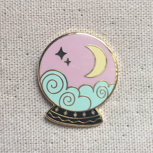 crystal ball tarot enamel pin