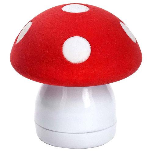 adorable mushroom eraser & pencil sharpener set