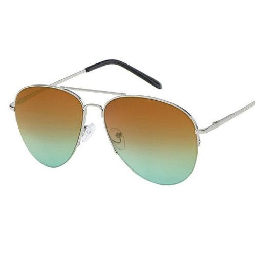 darby sepia & green aviator sunglasses